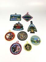 Lot Of (9) Various Boy Scouts Heritage Reservation Summer Camp Patches