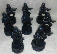 8 STAR WARS 2005 LFL CHESS PIECES PARKER BROS BLACK PLASTIC GAME STRATEGIC