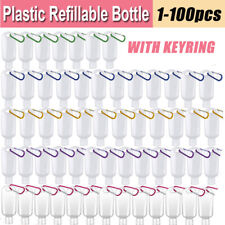 50ml Empty Refillable Bottles Travel Plastic Keychain Leakproof Liquid Squeeze