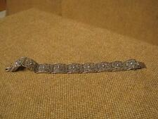 ▀█▀ ██ █▄ █▄ altes filigranes Armband / 835er Silber --um 1930
