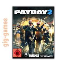 PAYDAY 2 PC gioco STEAM DOWNLOAD Digital link de/UE/USA Key Codice veleno Game