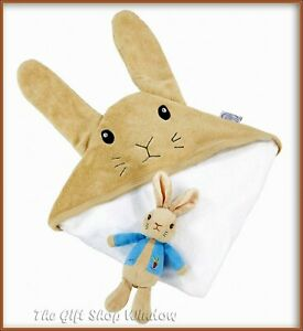 PETER RABBIT SOFT TOY & CUDDLE ROBE GIFT SET BOXED BY RAINBOW DESIGNS SUPER GIFT