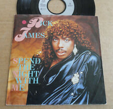 """DISQUE 45T DE RICK JAMES  """" SPEND THE NIGHT WITH ME """""""