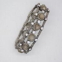 lia sophia jewelry vintage stretch bangle cut crystals tennis link bracelet
