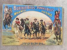 Wooden Sign Buffalo Bill And Pawnee Bill