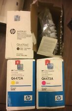 HP 501A HP 502A Q6470A Q6471A Q6472A Q6473A Laserjet 3600 TONERS VAT INCLUDED