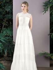 Inmaculada Garcia Shizen Lace Keyhole Back Aline Very Lt Ivory Wedding Dress 12