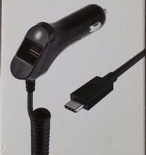 AT&T 4.8 Amp TYPE C MICRO USB  Car Charger /w Built in USB Adapter