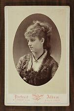 Sophie Croizette, Actrice Théâtre Comédie-Française, Photo Cabinet card Liébert