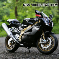 WELLY 1:10 Aprilia RSV 1000R Factory Motorcycle Racing Alloy Model Boys Toy-HJ
