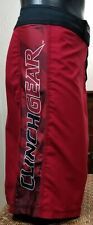 Clinch Gear Shorts High Performane Mma Bjj Jiu Jitsu Red Sz 40