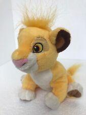 "Disney Store SIMBA Plush Sitting Lion King 6"" Stuffed Animal Toy"
