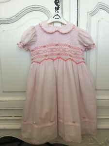 Sarah Louise Beautiful Pink Smocked Dress Age 2. Excellent Condition