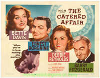 THE CATERED AFFAIR MOVIE POSTER Half Sheet 22x28 Size Folded 1956 BETTE DAVIS