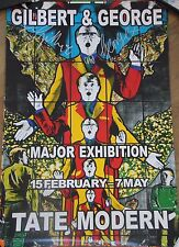 GILBERT & GEORGE - Affiche signée poster hansigned Major exhibition IV