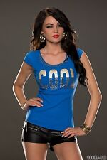 "Women's Party Club Outdoor ""Cool"" Casual T-shirt Top Wear UK size 8-10"