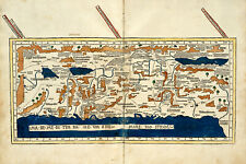 1482 Map of the Holy Land Palestine Historic Wall Art Poster Decor Home School