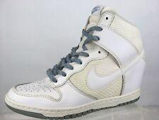 Nike Dunk Sky High Essential Sz 10 White/Grey Wedge Sneaker Shoes 644877 W/ Flaw