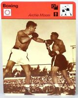 "Archie Moore 1978 Boxing Sportscaster 6.25"" Card 21-07 Light Heavyweight Champ"