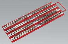 Sealey AK271 Socket Rail Tray Red 1/4 3/8 and 1/2 SQ Drive