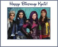 "(4) PERSONALIZED Disney Descendants Party Stickers,3 1/4"",Birthday Favors Labels"