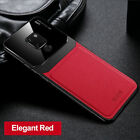For Huawei Mate 20 X Pro Mate 10 30 Pro Hybrid PU Leather Glass Back Case Cover