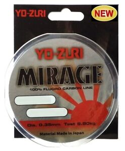 YO ZURI Fishing Line Fluorocarbon MIRAGE Made IN Japan - 492 1/12-820 2/12ft M