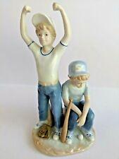 "Baseball Winner Loser Home Run Paul Sebastian Figurine Vintage 1989 9"""
