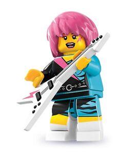 Lego minifig series 7 Rocker Girl punk emo goth city 8