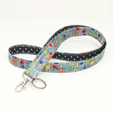 Cute Fabric Lanyard ID Holder Key Chain Teacher Nurse Key Strap - colorful dots