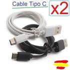 x2 Cable de datos USB-C 3.1 tipo C Macho Type C SAMSUNG HUAWEI XIAOMI LG ONEPLUS