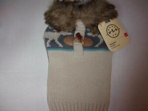 Fair Isle Fur Trim Dog Sweater XXS XS M L new pet Bond & Co xsmall medium large