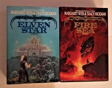 Death Gate Cycle Margaret Weis Tracy Hickman Fantasy HC Fire Elven Lot 2 Books