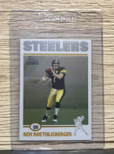 2004 Ben Roethlisberger Topps Chrome Steelers RC Rookie Card # 166 FLAWLESS!