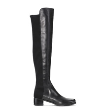 06ca9b0b7b33 Stuart Weitzman NEW Reserve Over The Knee OTK Black Leather Stretch Boots   695
