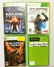 4x Microsoft Xbox Live Games, Gears of War, Red Faction, Mass Effect & D Storm 2