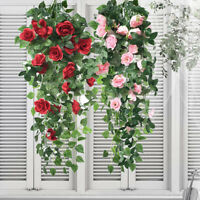 90cm 18 Flowers Artificial Flower Fake Garland Vine Ivy Plant Leaves Home Decor
