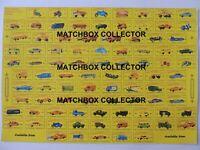 Matchbox Lesney Poster repro Type D Series models 1-75