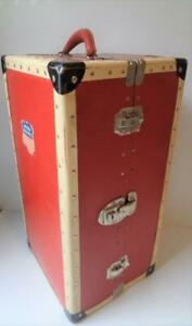 """Antique Vintage 1930s Doll Steamer Trunk fits 18"""" Shirley Temple Mme Alexander"""