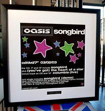 Oasis Songbird  Framed Original Artwork-Ltd Edt-Certificate Liam Gallagher