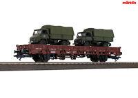 Märklin 46936 Niederbordwagen mit 2x Unimog Bundeswehr ++ NEU in OVP