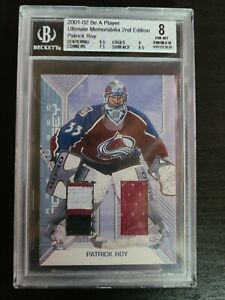 2002 Patrick roy Be a Player Game Used Stick and Jersey! 30 of 50!! Beckett 8