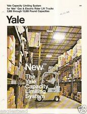 Fork Lift Truck Brochure - Yale - Capacity Limiting System - c1973 (Lt21)
