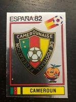 FIGURINA ESPANA 82 PANINI n° 90 SCUDETTO CAMEROUN NUOVA CON VELINA NEW