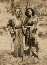 #41614 DIONYSOS Greece May 1949. Old man & young woman. Photo.