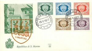 San Marino, FDC Ala - Centenario primi francobolli, 15/06/1977