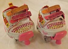 Skechers Twinkle Toes Sequin & Embroidered Shoes with Pink Roller Skates #EB38