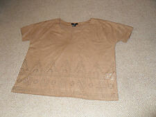 H&M  casual faux suede tan colour top - size Xsmall
