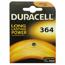 Duracell 364 1.5v Silver Oxide Watch Battery Batteries Sw621Sw D364 V364 Sr60