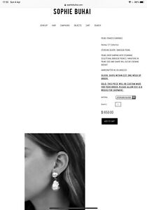 Sophie Buhai Francis Baroque Pearl Earrings BNWT